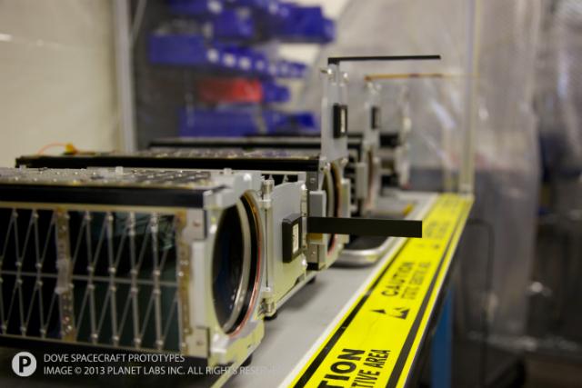Один из крошечных спутников (фото Planet Labs).