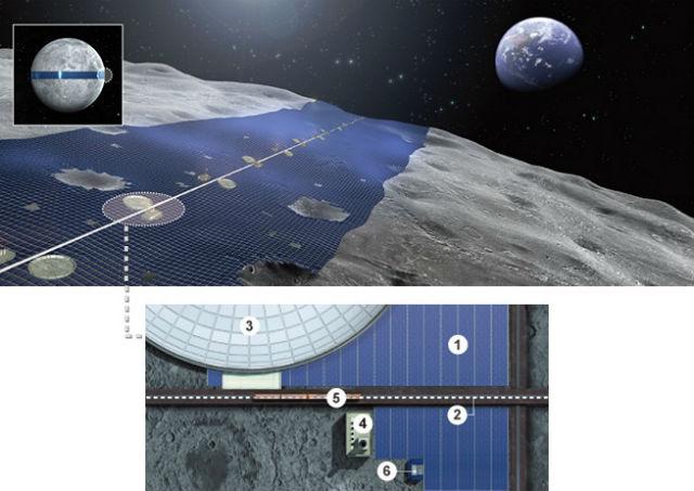 Ширина лунного кольца составит 450 километров, а длина — 12240 километров (иллюстрация Shimizu Corp.).