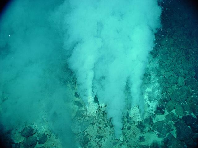 Микроорганизмы были обнаружены не только под землёй, но и возле подводных гидротермальных источников (фото NOAA/Wikimedia Commons).