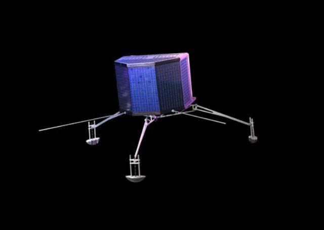 Посадочный модуль Philae (иллюстрация ESA ATG medialab, Astrium E, Viktor).