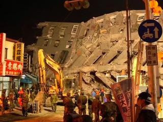 Землетрясение на Тайване: число жертв возросло до 40 человек