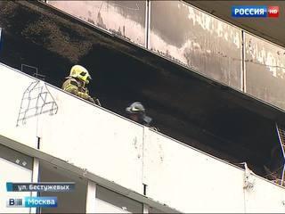 Сгоревшая на северо-востоке Москвы квартира была сильно захламлена