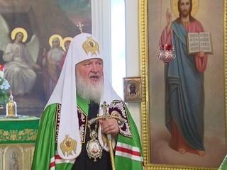Патриарх Кирилл совершил литургию в День памяти преподобного Силуана Афонского