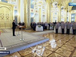 Путин пожелал молодым лейтенантам, чтобы служба им нравилась