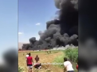 В Ливане сгорел лагерь сирийских беженцев