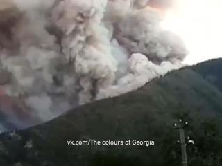 В Грузии третьи сутки полыхает лес в Боржомском ущелье