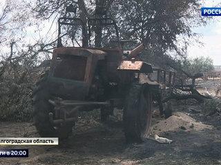 Тушить пожары под Волгоградом мешает песчаная буря