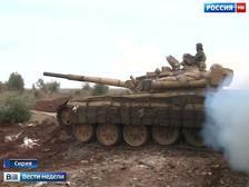 Благодаря слаженной работе наводчиков и танковых экипажей удалось уничтожить два командных пункта террористов