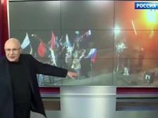 Ганапольский представил подлог - картинку не этого года, а прошлого, не митинга, а постановочной съемки ролика социальной рекламы