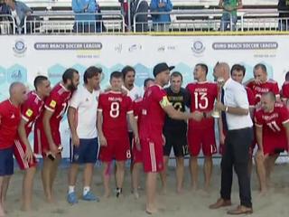 Сборная России по пляжному футболу победила в Суперфинале Евролиги