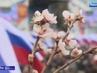 В Севастополе прошел многотысячный митинг в честь Крымской весны