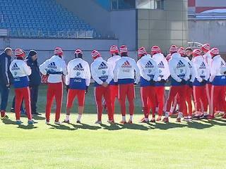 Российские футболисты готовятся к контрольному матчу против сборной Бразилии