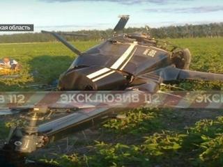 Под Рязанью разбился вертолет: аппарат вдребезги, летчик жив