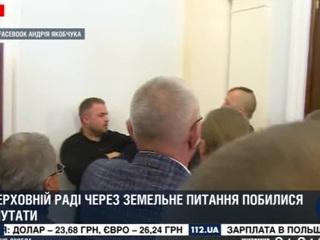 Украинские депутаты вновь устроили драку в Раде
