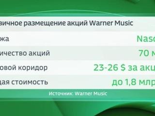 Музыкальные акции: Warner Music объявила о старте IPO