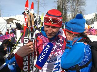Российские лыжники заняли весь пьедестал в масс-старте на 50 км